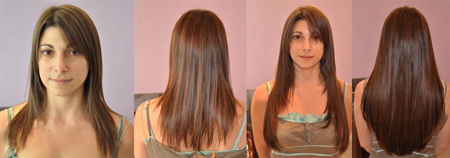 Extensions keratine cheveux fins