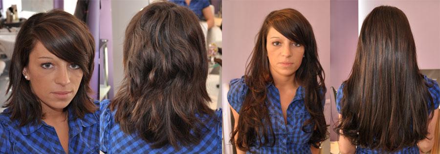 Souvent AVANT / APRES la pose d'extension de cheveux en image CT31