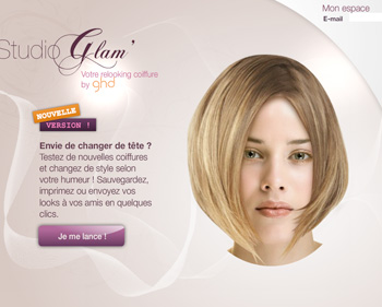 Coiffure Virtuelle Studio Glam Par Ghd