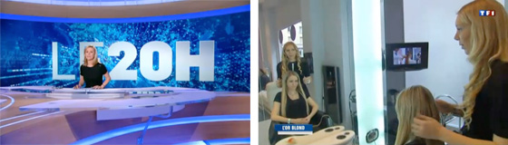 Extension de cheveux russe hair glam au journal de 20h sur TF1