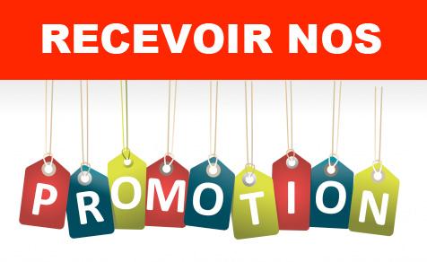 Recevoir nos promotions