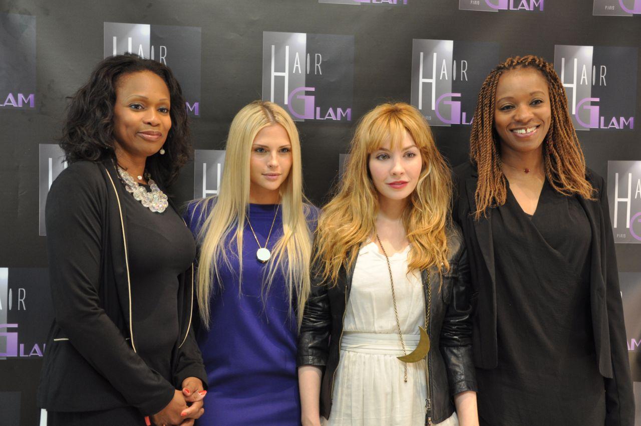 Laura Flessel, Kelly, Alix au salon spécialisé en extensions Hair Glam