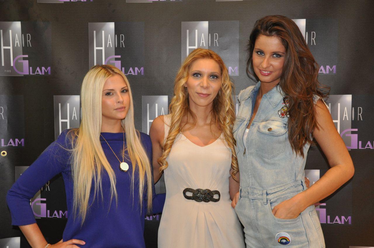 Soirée Hair Glam lancement de l'égérie Kelly auprès de Tania et Malika