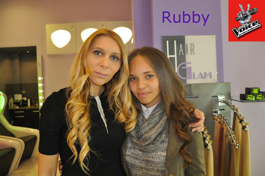 Rubby Battery chez Hair Glam pour The Voice