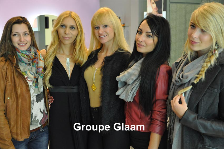 Glaam le groupe chez Hair Glam Paris