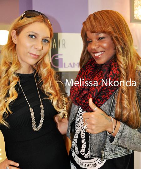 Melissa Nkonda chez Hair Glam